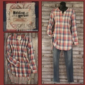 Plaid & Pleats Tunic by Holding Horses for Anthro